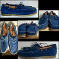 Polo By Ralph Lauren Shoes | Men'S Polo Ralph Lauren Merton Leather Shoes | Color: Blue/Tan | Size: 10