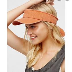 Free People Accessories | Free People Visor Hat Cap | Color: Orange | Size: Os