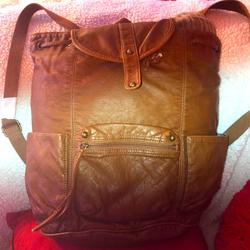 American Eagle Outfitters Bags | Nwt American Eagle Sling Knapsack Backpack Brown | Color: Brown | Size: Os