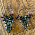Anthropologie Jewelry | Beautiful Bronze Chandelier Drop Earrings | Color: Brown/Purple | Size: Os