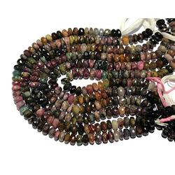 """AAA Natural Tourmaline Micro Faceted Rondelle Beads Natural Tourmaline Rondelle Beads Natural Tourmaline Gemstone Beads Tourmaline Gemstone Size 10mm to 11mm (Approx) 13"""" Inches Strand"""