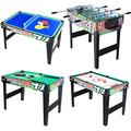 KAKIBLIN 4 in 1 Multi Combo Game Table Set for Kids, Billiard Pool Table, Tabletop Foosball Table, Kids Hockey Table, Ping Pong Table Tennis with All Accessory, 31.5in, Green