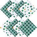 8 Pieces St.Patrick's Day Cloth Napkin Irish Shamrock Cloth Napkins Green Four Leaves Table Napkin Kitchen Cloth Napkins Green Clover Dinner Napkin Washable Polyester for St.Patrick's Day Decor
