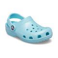 Crocs Ice Blue Kids' Classic Glitter Clog Shoes