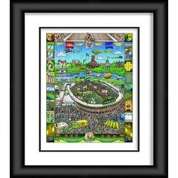 """""""Green Bay Packers Framed 23"""""""" x 27"""""""" Artist Enhanced Deluxe Three-Dimensional Art Print Hand Painted and Signed by Charles Fazzino"""""""