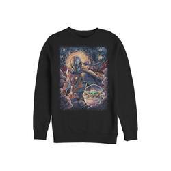 Star Wars The Mandalorian Black Star Wars The Mandalorian Mando Child Razor Painty Stars Crew Fleece Graphic Sweatshirt