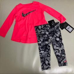 Nike Matching Sets | Nike Dri-Fit Baby Pink Cute Leggings Set 2037 | Color: Pink | Size: Various