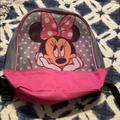 Disney Accessories | Disney Minnie Mouse Mesh Small Backpack | Color: Black/Pink | Size: Osbb