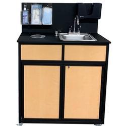 "MONSAM Portable Sink 18.5"" L x 37"" W Portable Handwash Station w/ FaucetHDPE, Size 53.0 H x 18.5 W x 37.0 D in   Wayfair HWS-009S"