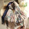 Foulard doux et populaire pour femmes, foulard Long, imprimé Voile, confortable, col Long, grand,
