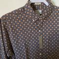 J. Crew Shirts | J Crew Secret Wash Cotton Poplin Shirt Sun Print | Color: Blue/Orange | Size: M