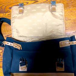 Coach Bags | Coach Vintage Black Canvas Leather Messenger Bag | Color: Black/Brown/Silver/Tan | Size: Os