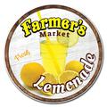 SignMission Circular Rigid Plastic Sign - Farmer's Market Lemonade Plastic SignPlastic in Brown/Yellow, Size 12.0 H x 12.0 W x 0.1 D in | Wayfair