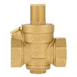 """Pressure Relief Valve Adjustable, DN25 1inch Brass Water Garden Hose Pressure Valve 1"""" Adjustable Water Control Pressure Regulator Valve Thread"""