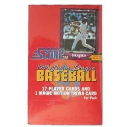 1988 Score Baseball Cards Unopened Wax Box