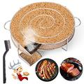 LIHAO Pellet Smoker Tray, Hot/Cold Smoke Generator for BBQ Grill, 5 Hours of Billowing Smoke, Ideal for Smoking Cheese, Fish, Pork, Salmon