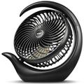 viniper Battery Operated Fan, USB Desk Fan : 180° Rotation and 3 Speeds Strong Wind Portable Quiet Fan, Optimised Battery & Longer Working Hours, Medium Size and Mighty (8.7 inch, Black)