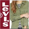 Levi's Jackets & Coats | Levi'S Women'S Green Embroidery Jacket. Xs. | Color: Green/White | Size: Xs