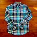 J. Crew Shirts   Mens J.Crew Plaid Button Down Shirt   Color: Blue/Green   Size: S