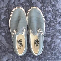Vans Shoes | Greyson Blue Slip On Vans | Color: Blue/Gray | Size: 7.5