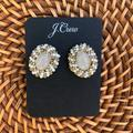 J. Crew Jewelry   J.Crew Seed-Bead Frame Stud Earrings   Color: White   Size: Os