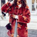 Free People Jackets & Coats | Free People Wrap Me Up Faux Fur Coat | Color: Red | Size: M