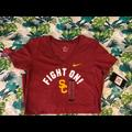 Nike Tops | Nike Womens Usc Trojans Fight On V Neck | Color: Red | Size: Xs