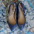 J. Crew Shoes   J.Crew Navy Leather Flats With Trendy Ankle Clasp   Color: Blue   Size: 7