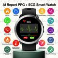 Montre connectée ECG AI PPG + ECG, moniteur de fréquence cardiaque, moniteur de température météo,