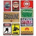 Plaque métallique Vintage pour voiture essence, signe de porte de Garage, signe de décoration murale