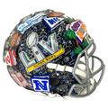 Super Bowl LV Artist Enhanced Three-Dimensional Replica Helmet Hand Painted by Charles Fazzino