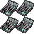4 Pack Solar Battery Desktop Calculator Basic 12-Digit Large Display Office Business US