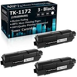 3 Black High Yield Cartridge TK1172 Compatible Toner Cartridge Replacement for Kyocera TK-1172 M2540d M2540dw M2040dn Printer Ink Cartridge