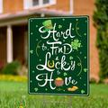 """St Patricks Day Garden Sign with Stakes - 17"""" x 13"""" Double-Sided St Patricks Day Yard Sign - St Patricks Day Decorations for Patio Decor, Entryway Decor, Front Porch Decor & Garden Decorations"""