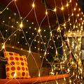 IFELISS LED Net Lights Outdoor Mesh Lights, 8 Modes 200 LED 9.8ft x 6.6ft Net Lights LED, Christmas Net Lights for Bedroom, Bushes, Christmas, Wedding Garden, Outdoor, Indoor Decor (Warm White)