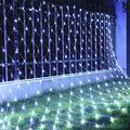 IFELISS LED Net Lights Outdoor Mesh Lights, 8 Modes 200 LED 9.8ft x 6.6ft Net Lights LED, Christmas Net Lights for Bedroom, Bushes, Christmas, Wedding Garden, Outdoor, Indoor Decor (White)