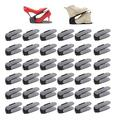 RISETEX Shoe Slots Organizer 36 Pack,Shoe Stackers for a Pair of Shoes,Increase Space by 200%,Adjustable 4 Level Shoe Space Saver,Double Deck Shoe Rack Holder for Closet Organization,Black