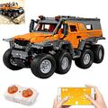 FXQIN Electric Building Block Remote Control Car Wireless Siberian Conqueror Simulation Car with App-Controlled RC Off-Road Vehicles Building Blocks Kit Building Construction Toys