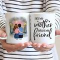 Personalized To Mother Mug, Mother & Daughter Forever Linked Together Mug, Christmas Mug, Personalized Mug, Mom Mug, Daughter Mug, Family Mug, Gifts for Mother, Daughter Women11oz 15oz Mug (Multi 3)