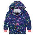 uideazone Hooded Rain Jacket Waterproof Rain Coat Outdoor Windbreaker Jacket for Girl 6-7 Years