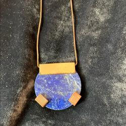 Madewell Jewelry | Geometric Necklace | Color: Blue/Gold | Size: Os