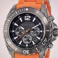 Michael Kors Accessories   Mk Mens Chrono   Color: Black/Orange   Size: Os