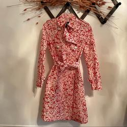 Burberry Jackets & Coats   Burberry Raincoat Slicker Trench Coat   Color: Red/White   Size: 4