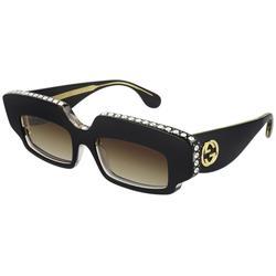 GG0782S 001 Women's Sunglasses - Black - Gucci Sunglasses