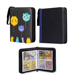 CloverCat 4 Pocket Trading Card Binder - Compatible with Pokemon Cards with 9 Pocket Trading Card Binder, 720 Double Sided Pocket Album for Yugioh, MTG and Other TCG