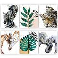 "Safari Nursery Wall Art Set of 6 |Size 8""x10"" Unframed Nursery Wall Decor |Safari Nursery Decor Baby Animal Pictures for Nursery| Baby Nursery Decor for Boys| Jungle Nursery Decor |Kids Wall Decor"
