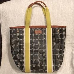 Kate Spade Bags | Nwot Kate Spade Ny Canvas And Leather Tote Bag | Color: Black/Green | Size: 18.5 In Wide X 23 In Long Incl. Handles