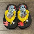 Disney Shoes | Boys Disney Pixar Cars Slippers Flip Flops Shoes | Color: Black/Yellow | Size: S (56)