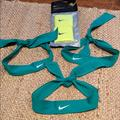 Nike Accessories | Bundle Of 3 Nike Headwraps & Nike Arm Sweatbands. | Color: Blue/Green | Size: Os