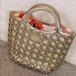 Kate Spade Bags | Kate Spade Trendy Gold Tote | Color: Gold/Silver | Size: Large Satchel Per Kate Spade Website